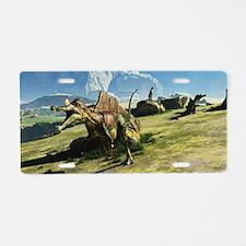 Ichthyovenator Dinosaur Aluminum License Plate