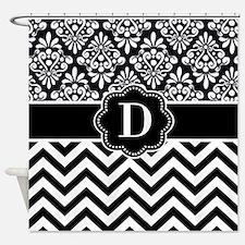 Black White Shower Curtains | Black White Fabric Shower Curtain Liner