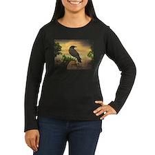 Dark Retro Crow Long Sleeve T-Shirt
