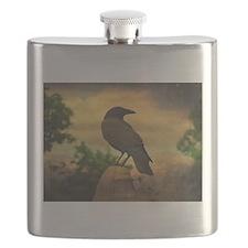 Cute Crow Flask