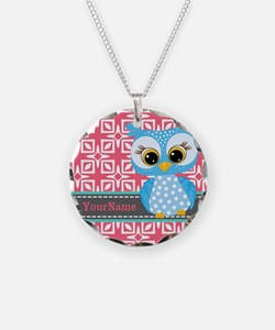 Beautiful Teal Owl Personali Necklace