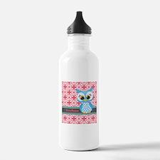 Beautiful Teal Owl Per Water Bottle