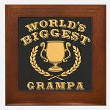 World's Biggest Grampa Framed Tile