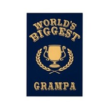 World's Biggest Grampa Rectangle Magnet