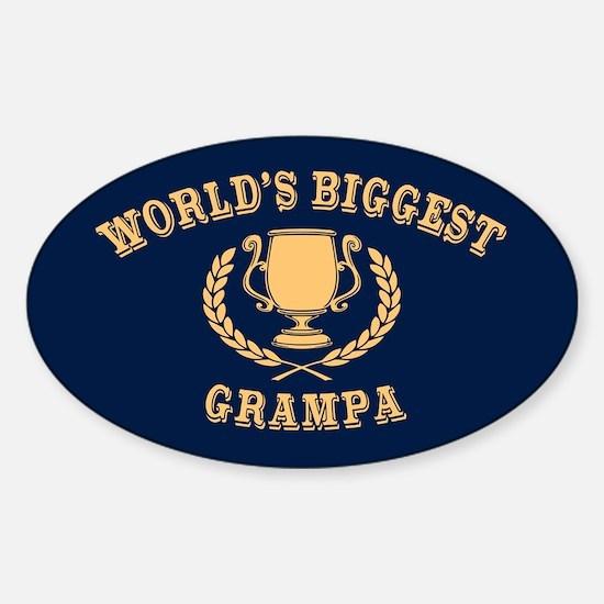 World's Biggest Grampa Sticker (Oval)
