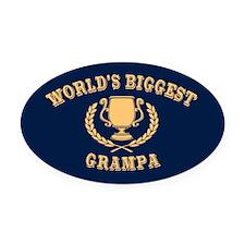 World's Biggest Grampa Oval Car Magnet