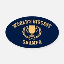 World's Biggest Grampa Oval Car Magnet