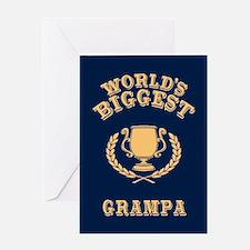 World's Biggest Grampa Greeting Card