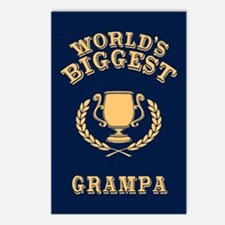 World's Biggest Grampa Postcards (Package of 8)