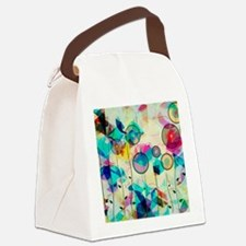 Funny Abstract Canvas Lunch Bag