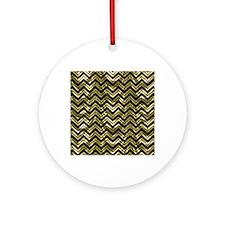 Unique Black gold Round Ornament