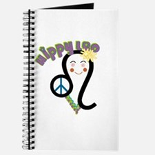 Unique Flower peace sign Journal