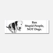 Cute Fighting dogs Car Magnet 10 x 3