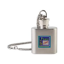 Give Peace A Chance Flask Necklace