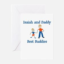 Isaiah & Daddy - Best Buddies Greeting Cards (Pack