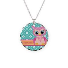 Cute Pink Little Owl Persona Necklace