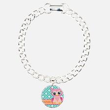 Cute Pink Little Owl Per Bracelet