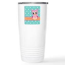 Cute Pink Little Owl Pe Travel Mug