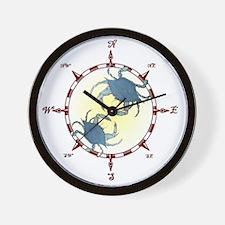 Unique Rose compass Wall Clock