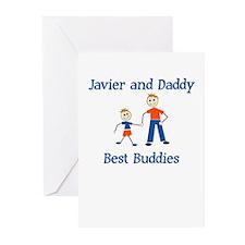 Javier & Daddy - Best Buddies Greeting Cards (Pack