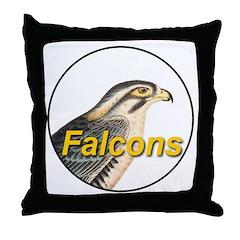 Falcons Throw Pillow