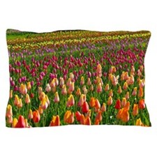 Field of Tulips Pillow Case