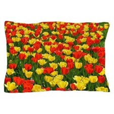 Red and Yellow Tulips Pillow Case