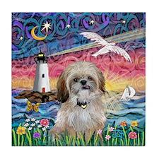 Lighthouse-Seagull-Shih (P) Tile Coaster