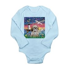 Lighthouse-Seagull-Shi Long Sleeve Infant Bodysuit