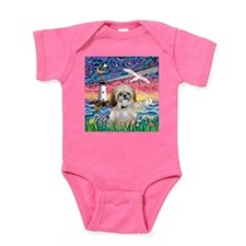 Lighthouse-Seagull-Shih (P) Baby Bodysuit