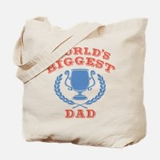 World's Biggest Dad Tote Bag