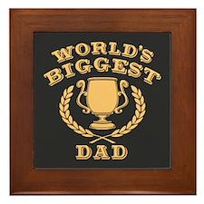 World's Biggest Dad Framed Tile