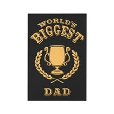 World's Biggest Dad Rectangle Magnet