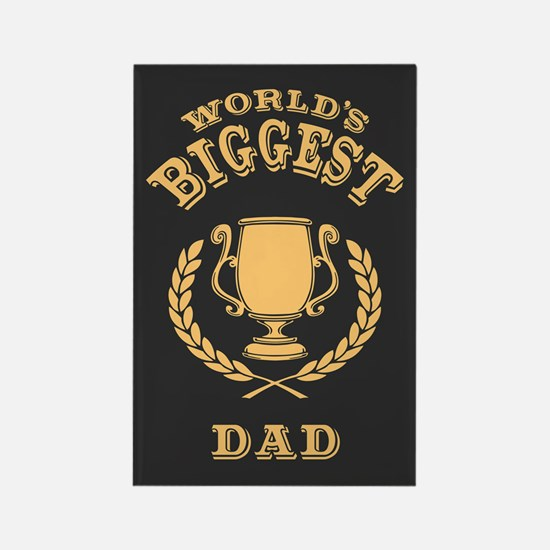 World's Biggest Dad Rectangle Magnet