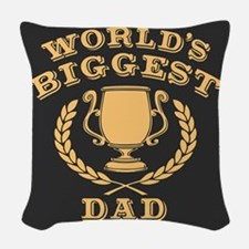 World's Biggest Dad Woven Throw Pillow