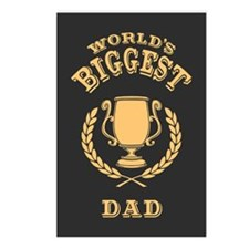 World's Biggest Dad Postcards (Package of 8)