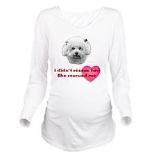Bichon Luv Long Sleeve Maternity T-Shirt