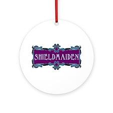 Shieldmaiden Ornament (Round)
