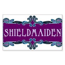 Shieldmaiden Rectangle Bumper Stickers