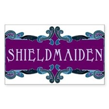 Shieldmaiden Rectangle Stickers
