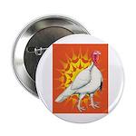 Sunburst White Turkey Button