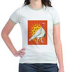 Sunburst White Turkey Jr. Ringer T-Shirt