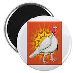 Sunburst White Turkey Magnet
