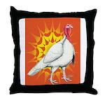 Sunburst White Turkey Throw Pillow