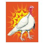 Sunburst White Turkey Small Poster