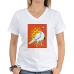 Sunburst White Turkey Women's V-Neck T-Shirt
