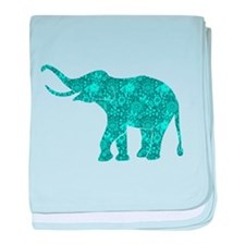 Funny Turquoise baby blanket