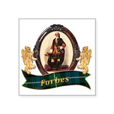 """Forbes Clan Square Sticker 3"""" x 3"""""""