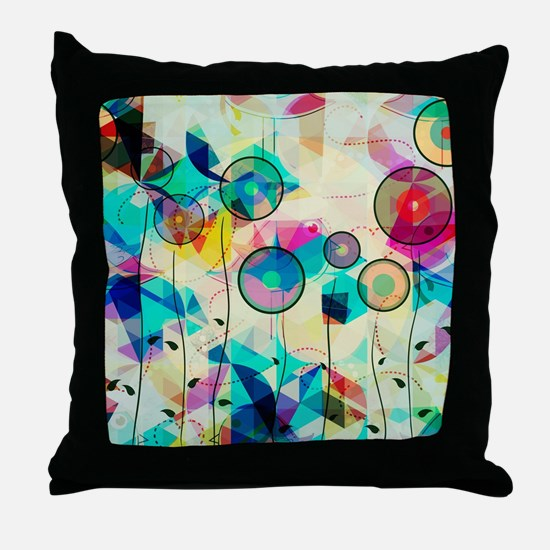Funny Abstract art Throw Pillow