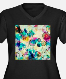 Colorful Abstract Digital Art Plus Size T-Shirt